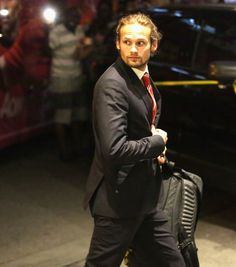 Daley Blind with a top knot.