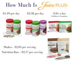 How much is Juice Plus? It's more affordable than you might think. I don't go a day without it.