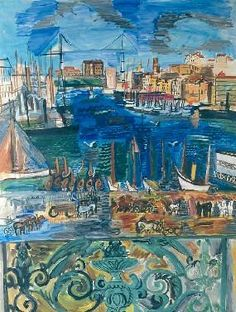 The Port Of Marseille Artwork By Raoul Dufy Oil Painting & Art Prints On Canvas For Sale Raoul Dufy, Art Fauvisme, Renoir, Oil Painting Reproductions, Henri Matisse, Art Plastique, Canvas Art Prints, Art History, Painting & Drawing