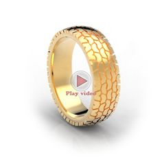 Tire Tread Wedding Ring