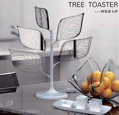Toaster Tree: Designed by Xu Yan Xiang, it's transparent leaves hold the bread until they are done.