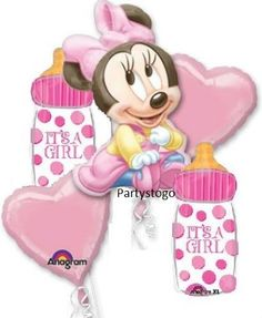 Minnie Mouse Baby Shower Party Balloons Bouquet Supplies Decorations Baby | eBay