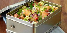 Salade composée au saumon fumé
