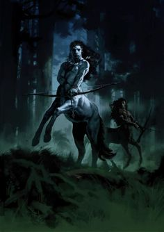 Centaur / a creature of two worlds. they know how to put themselves on the winning side of any situation Centaur (Harry Potter and the Order of the Phoenix) concept art by Adam Brockbank Harry Potter Art, Fantasy World, Dark Fantasy, Fantasy Art, Magical Creatures, Fantasy Creatures, Science Fiction, Mythological Creatures, Dark Angels