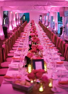 If your wedding is on a budget lacks some of the décor elements you dreamed of, make it up with floor to ceiling lighting to get the party started.