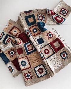 Crochet Twist, Crochet Diy, Crochet Wool, Crochet Jacket, Crochet Cardigan, Baby Knitting Patterns, Crochet Patterns, Crochet Anchor, Crochet Cushion Cover