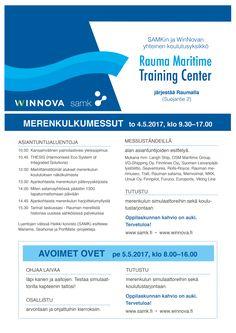 Rauma Maritime Training Center - avoimet ovet -kamppisilme (2017)