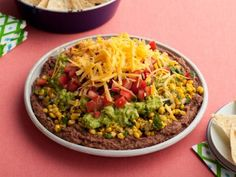 Five Layer Mexican Dip (Ellie Krieger) - This was OUTSTANDING! I doubled the recipe for a party of 10 and everyone loved it. This took about 1.5 hours to make and I recommend refrigerating it for about 2-3 hours before serving.