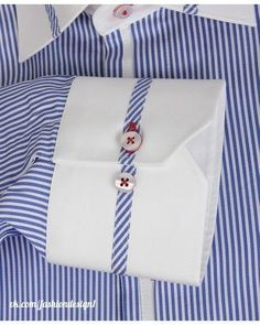 Rhonda's Creative Life: Monday Morning Inspiration/It's All In The Details Sewing Hacks, Sewing Tutorials, Sewing Patterns, Fashion Sewing, Mens Fashion, Gents Kurta, Only Shirt, Mens Designer Shirts, Pola Lengan