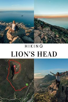 Lion's Head is probably the most famous hiking trail in Cape Town, South Africa. With 360 views of Cape Town and the vast ocean, you'll not be disappointed! Hiking Guide, Hiking Trails, Lions Head Hike, Disappointed, Cape Town, South Africa, African, Ocean, Travel