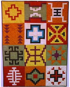 Old Navajo Sampler quilt pattern by J. Michelle Watts