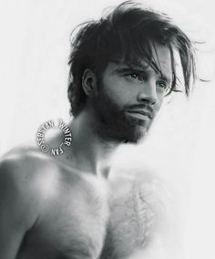 """THIS IS SO EFFING BEAUTIFUL. """" Bucky a year before Steve found him. He trim his hair but didn't shave his beard. He remembered some pieces from his past but they don't make a sense at all. Next week. Marvel Man, Marvel Fan Art, Man Thing Marvel, Sebastian Stan, Bucky Barnes, Raining Men, Stucky, Winter Soldier, Good Looking Men"""