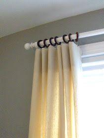 diy Design Fanatic: Drop Cloth Curtains