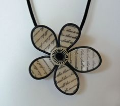Gallery » Polymer Clay Jewelry & Gifts A scripted flower pendant