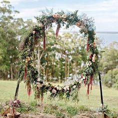 Giant wreath backdrop