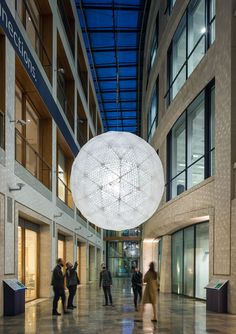 Public Lighting Installation made of Recycled Plastic Cups by Interactive Architecture Lab
