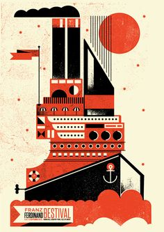 Screen-printed gig posters on Behance