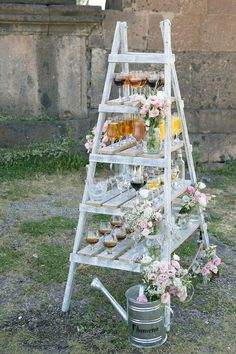 Sprinkle Shower, Party Entertainment, Ladders, Barn Doors, Event Decor, Tablescapes, Ladder Decor, Pink Blue, Party Time