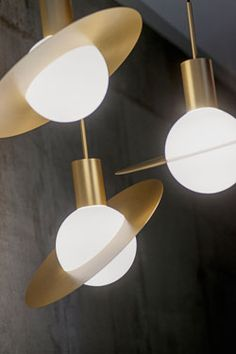 "Feels vintage but is actually a perfectly new. Perfect ""Saturne"" ceiling lights design by Herve Langlais 2014"