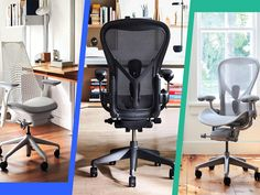The reality of today's working environment is that most of us spend the majority of the day sitting behind a desk. And as evolution has not caught up yet with this new form that we are taking on, we sit with back pain and sore […]Visit Man of Many for the full post. Best Ergonomic Office Chair, Best Office Chair, Office Chairs, Best Computer Chairs, Chair Types, Cool Chairs, Desk Chair, Online Furniture, Office Ideas