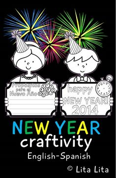 New Year coloring craftivity