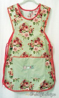 Love this apron -- reminds me of the ones my Mom use to wear in the 1950's.   Courtesy of:  Dollysdesigns.blogspot.com/2012/04/making-aprons.html