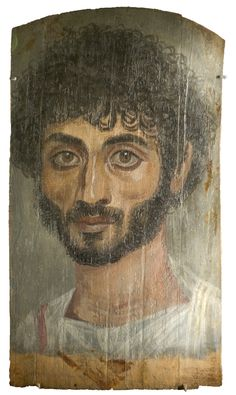 ♂️♀️♀️Retrato de El Fayum♀️♀️♂️Roman Fayyum Mummy Portrait ♂️♂️♀️More Pins Like This At FOSTERGINGER @ Pinterest ♀️Mummy portraits or Fayum mummy portraits (also Faiyum mummy portraits) is the modern term given to a type of naturalistic painted portraits on wooden boards attached to mummies from the Coptic period. They belong to the tradition of panel painting, one of the most highly regarded forms of art in the Classical world. In fact, the Fayum portraits are the only large body…