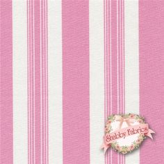 "Sunshine Roses PWTW074-PINKX Pink Stripe By Tanya Whelan For Free Spirit: Sunshine Roses is a collection by Tanya Whelan for Free Spirit. 100% cotton. 43/44"" wide.  This fabric features a pink and cream stripe."