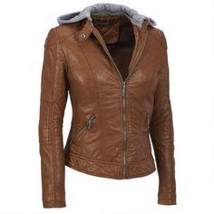 Coalition LA Faux-Leather Zip Scuba w/Knit Hood - View All Women's - Clearance - Wilsons Leather