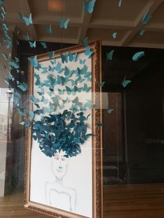Butterfly hair Window display