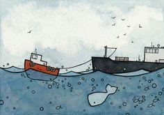 Whale & Tugboat