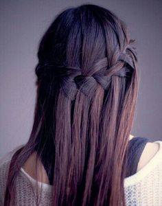 Watetfall braid and fall hair color