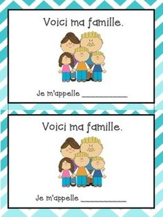 La Famille bundle - French family vocabulary sheet and writing booklet French Teacher, Teaching French, French Sentences, French Adjectives, Kindergarten Vocabulary, Writing About Family, French Worksheets, French For Beginners, French Education