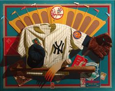 """""""Baseball"""" oil on canvas 39x49 inches by Gary T. Erbe."""