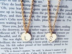 Monogram Necklaces Gold Plated by AvecAmourLauren on Etsy