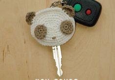 Panda Key Cover Crochet Pattern, Chart & Written Pattern