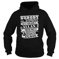 I Love Nobody is perfect but if your name is ALLAN youre pretty damn close shirt T-Shirts