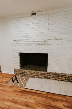 Great Photos Fireplace Hearth removal Style – Rebel Without Applause Brick Hearth, Fireplace Hearth, Fireplace Inserts, Brick Wall, Fireplaces, Antique Fireplace Mantels, Wood Mantels, Mantels For Sale, Traditional Fireplace