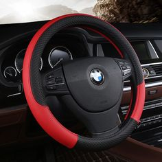 best price pu leather universal car steering wheel cover 38cm car styling sport auto steering wheel covers #sport #wheels