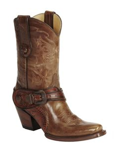 Corral Saltillo Golden Harness Cowgirl Boots - Snip Toe available at #Sheplers