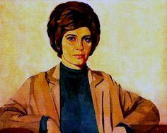 Self portrait of the #portuguese painter Maluda