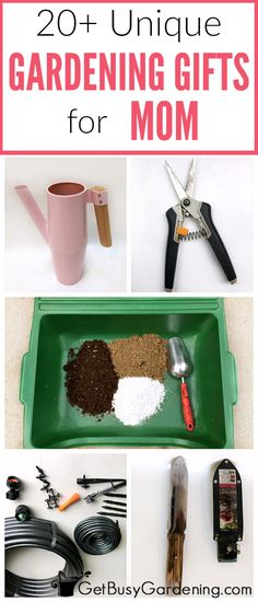 Whether it's for her birthday, holidays, or you're looking for Mother's Day garden gift ideas, gardening moms are hard to shop for! Here's a list of over 20 fun and unique gardening gifts for mom! Gardening Gifts For Mom, Gardening For Beginners, Gardening Tips, Vegetable Gardening, Sustainable Gardening, Flower Gardening, Diy Mothers Day Gifts, Grandma Gifts, Mother's Day Diy