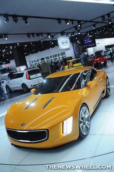The sleek #Kia GT4-Stinger Concept at #NAIAS