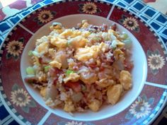 "Breakfast Fried Rice! ""Very tasty!""  @allthecooks #recipe #breakfast #rice #easy #healthy #hot"