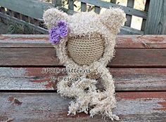 Ravelry: Soft Kitty Bonnet pattern by SPRE Patterns & Design  $5.49