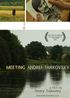 """DVD DOC 234 - Meeting Andrei Tarkovsky (2008) EEUU. Dir: Dmitry Tarkowsky. Cine dentro do cine. Sinopse: Dmitry Trakovsky, novo cineasta ruso radicado en California, explora a Andrei Tarkovsky, un dos grandes mestres da vangarda do cinema ruso. Sendo dunha xeración tan distinta, Dmitry tenta abordar os aspectos relixiosos das súas películas e mergullar nas súas raíces. Afirma: """"a mellor maneira que teño para describir a Tarkovsky é a través deste documental"""""""