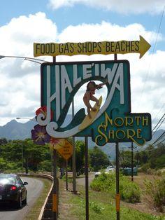 Roadsign of Haleíwe, North Shore - Oahu