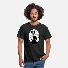 Marilyn Monroe mit Inschrift Männer T-Shirt