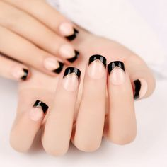 Black, gold and nude nails #nails