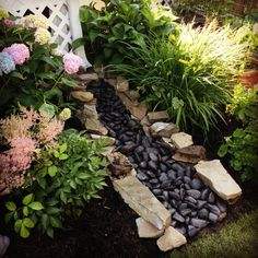"""today, I have a very interesting post that is called Amazing Ideas - Dry Creek Beds for Landscaping """". Are you excited?For today, I have a very interesting post that is called Amazing Ideas - Dry Creek Beds for Landscaping """". Are you excited? Outdoor Landscaping, Front Yard Landscaping, Outdoor Gardens, Landscaping Ideas, Backyard Ideas, Landscaping Software, Landscaping Company, Luxury Landscaping, Landscaping Melbourne"""